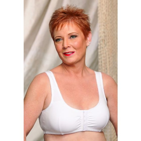 Cotton Front-Closure Leisure Bra