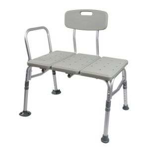 Deluxe Tub Transfer Bench with back