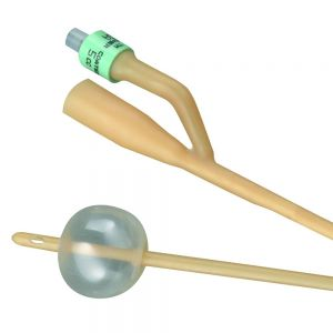 2-Way Silicone-Elastomer Coated Foley Catheter 5cc Balloon