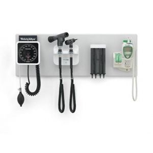 "Welch Allyn 77782-M 777 Green Series Integrated Wall System with 40"" Wall Board & Diagnostic Heads"