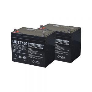 Universal 24 Volt Group 24 (75 Ah) Battery Pack , set of 2