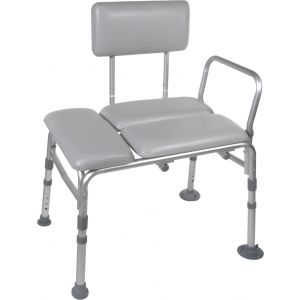 Deluxe Padded Bath Transfer Bench with Back