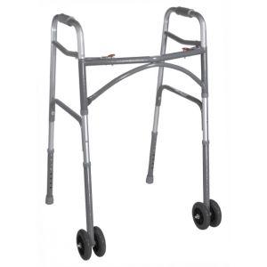 Bariatric Aluminum Folding Walker with Wheels