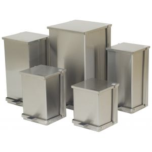 STEP-ON CANS, STAINLESS STEEL