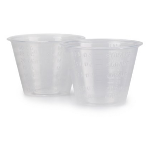 Graduated Medicine Cups 1 oz. Clear Plastic Disposable
