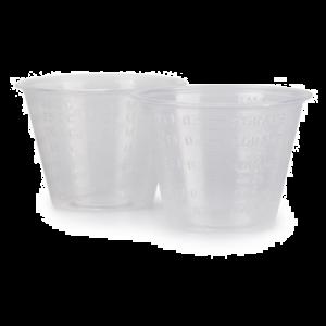 Graduated Medicine Cups 1 oz. Clear Plastic Disposable