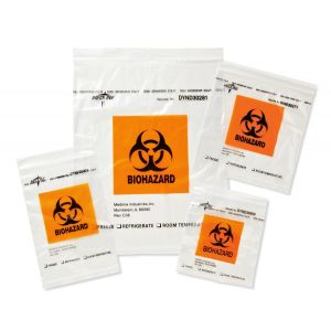 Zip-Style Biohazard Specimen Bags